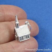 Silver CHURCH CHARM Wedding Chapel Religious PENDANT *NEW*