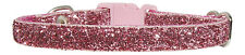 "dusky pink sparkle chihuahua dog/puppy collar 7"" 10"""
