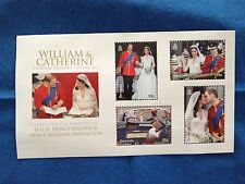 William & Catherine The Royal Wedding April 29, 2011 Stamps from Bermuda
