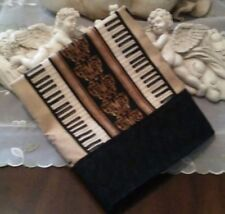SKR-MUSIC THEMED PILLOWCASES - PIANO KEYS, VIOLINS, FRENCH HORNS PILLOWCASE- NEW