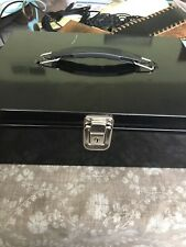 Black Portable Cashbox With Money Tray And Lock