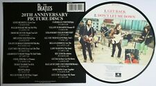 """New! Beatles Picture Disc 7"""" Vinyl Get Back The 20th Anniversary Days + Insert"""