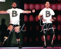 B Team Bo Dallas & Curtis Axel Hand Signed WWE 8x10 Photo Wrestler Autograph