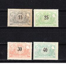 Belgique  lot de 4  timbres  pour colis postaux   de 1895/1902 neufs  *