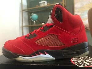 AIR JORDAN 5 RETRO DMP RED SUEDE TORO RAGING BULL SIZE 11