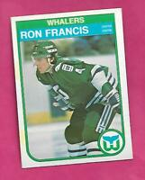 1982-83 OPC # 123 WHALERS RON FRANCIS  ROOKIE NRMT-MT CARD (INV# C7167)