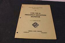 vintage general radio 1181-a deviation monitor tube radio operating instructions