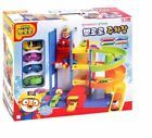 PORORO Parking Lot Tower With Elevator Mini 4 Cars Easy to Handle For Baby Kids