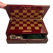 New listing rare wooden NFL San Diego Chargers Chess and Checkers Set and Board