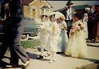 SZ07 ORIGINAL KODACHROME 1950s 35MM SLIDE WEDDING GIRLS ALL DRESSED AND READY