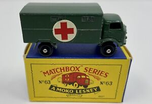 Matchbox No. 63 Ford Army Ambulance in Original 'B5' Box