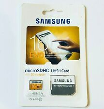 Samsung 16GB EVO 48MB/s MicroSD SDHC UHS-I Class 10 Memory Card with SD Adapter