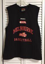 Nbl Melbourne (Utd) Basketball Sleeveless Jersey Size Medium Tigers And1 T-shirt