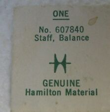Balance Staff for Grades 767 & 768 Genuine Sealed Pack New Old Stock Hamilton
