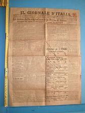 02/01/1908 IL GIORNALE D'ITALIA Esplosione della Borsa di Roma - 224