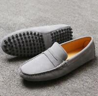 Suede Leather Mens Driving Moccasin Slip On Loafers Shoes Casual UK Size 5-12 xi