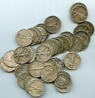 TWO+ROLLS+OF+WALKERS%2840+COINS%29+90%25+SILVER+HALF+DOLLARS