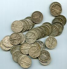 TWO ROLLS OF WALKERS(40 COINS) 90% SILVER HALF DOLLARS