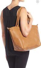 NWOT Longchamp LE PLIAGE CUIR Leather Handbag Natural $530