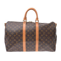 LOUIS VUITTON Monogram Keepal 45 Keepal Band Liere Brown M41418 808000609424000