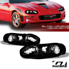 For 1998-2002 Chevy Camaro Oe Style Black Clear Housing Headlights Lamps Pair Nb