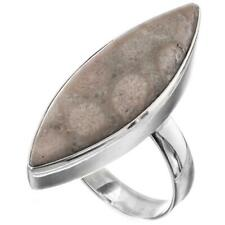"Sterling Silver Sz 7 ring 1 5/16"" Cool Fossil Coral 925"