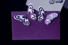 Laser Cut 3D Butterfly Wedding Party Name Table Place Cards Free Stand Quality