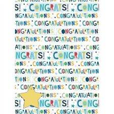 Gift Wrap & Tags - Congratulations Text (2 Sheets+Tags)