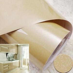 Vinyl Glitter Wall Stickers Self Adhesive Furniture Film Kitchen Cabinet Wrap 5m