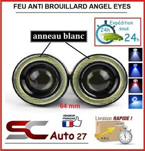 feu anti brouillard led angel eyes universel diam 64 mm blanc toute marque