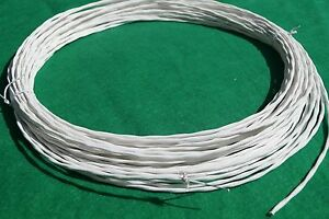100 Ft 20 AWG UNShielded Silver Plated PTFE Wire Twisted Pair 19 strand Cable.