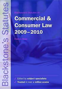 Blackstone's Statutes on Commercial and Consumer Law  2009-2010 (Bl... Paperback