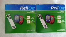 New Listing2 boxes of Relion Prime 100 glucose test strips; new! Total 200 strips