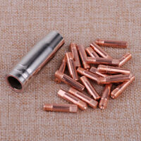 21 PCS MB-15AK MIG//MAG Welding Torch Contact Tip 140.0253 Gas Nozzle 145.0075