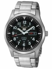 SEIKO 5 SNZG13 SNZG13K1 Automatic Army Military Black Men's Watch DE*2