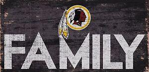 "Washington Redskins FAMILY Football Wood Sign - NEW 12"" x 6""  Decoration Gift"