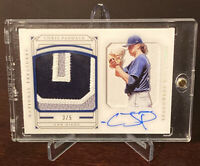 2019 National Treasures Chris Paddack Rookie Shadow Box Auto Patch /5 Padres RC