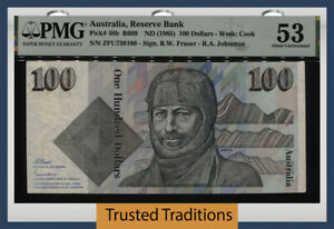 TT PK 48b ND (1985) AUSTRALIA RESERVE BANK 100 DOLLARS PMG 53 ABOUT UNCIRCULATED