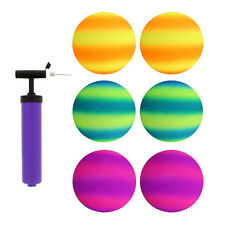 """Get Out!™ 8.5"""" Inch Playground Ball Four Square Balls 2-Toned 6pk & Pump"""