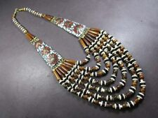 N5139 FASHION Runway Massive Ethnic BOLD tribal Strand BONE beads NECKLACE TIBET