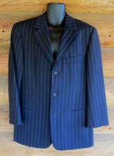 Hugo Boss Loro Piana Navy Pin Stripe Tasmanian Wool Size 38R Blazer Jacket NWOT