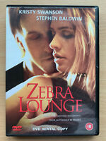 Cebra Salón DVD 2001 Erótica Suspense Drama con Kristy Swanson