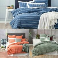 Renee Taylor 100% Cotton Summer Stripe Hudson Quilt Duvet Doona Cover Set