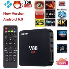 V88 Android 6.0 TV Box Internet Streamer RK3229 4K Quad Core KD16.1 1G+8G WiFi