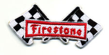 Hot Rod Patch Firestone Badge Drag Race Muscle Car Speed Shop Checkered Flags
