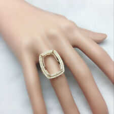 Emerald Cut 13x18mm Solid 14K Yellow Gold Natural Diamond Semi Mount Ring