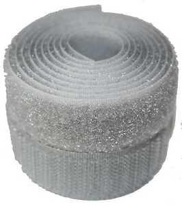 Silver Grey 20mm Sew on Hook and Loop  tape - Various Lengths