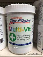 Top Flight Pigeons Vitamins  MultiVit Racing Pigeon   90g and 500g  BMFD