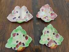 4 Vintage Avon Art Pottery Avon Ware Strawberry/Cherry Pattern Dishes