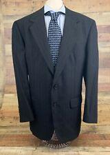 Alexandre London Saville Row Black 100% Wool Mens 40R Sport Coat Blazer Jacket
